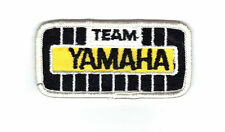 """Vintage  Embroiderd ~TEAM YAMAHA ~ 3-1/2""""x 2-1/2"""" Snowmobile Patch blk / yellow"""