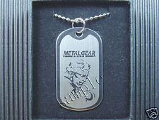 Metal Gear Solid Snake Helmet Dog Tag Necklace