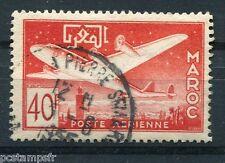 MAROC - 1952, timbre AERIEN 86, AVION, oblitéré