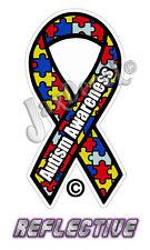 "2 - 2"" Autism Awareness Ribbon Decal Reflective Auto Helmet Decal Sticker"