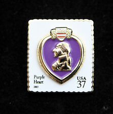 PURPLE HEART MEDAL LAPEL HAT PIN US MARINES ARMY AIR FORCE NAVY COMBAT WOUNDED
