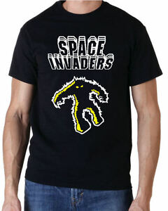 Space Invaders Alien 70s 80s Retro Gaming Arcade T-Shirt