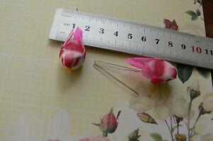 Mini Feather Bird Pink&Yellow 2pk -12mmHigh x 38mmLong x16mmWideTouch of Nature