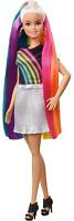 Barbie Rainbow Sparkle Hair Doll with Extra-Long Blonde Rainbow Hair, Sparkle Ge
