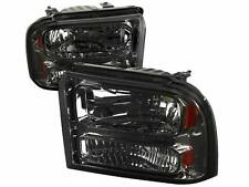 99-04 Ford F250 F350 Excursion Smoked Headlights 1pc Upgrade Super Duty Truck