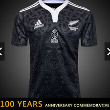 BNWT New Zealand MAORI RAU TAU 100 years All Blacks rugby jersey shirt size L