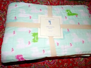 POTTERY BARN KIDS LIBBY LLAMA QUILT, TWIN, NEW, GET IT HERE !