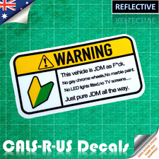 JDM AS F* WARNING STICKER Decal for Japanese Drift Car. 3M Reflective Vinyl
