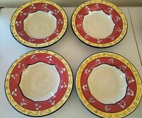 Pier 1 One VALLARTA Set of 4 Large Rimmed Soup Pasta Bowls 10 5/8