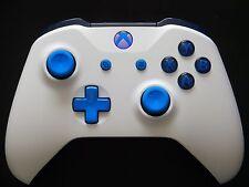 New Version Custom Matte White & Blue Xbox One S Bluetooth Wireless Controller