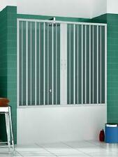 Bathtub Door Enclosure PVC Folding Door Side Opening Width 1400 Until 1800 Mm 180 Cm Red