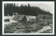 WA King County RPPC 1950's SKI TIME at STEVENS PASS SUMMIT & Cars by Ellis No.16