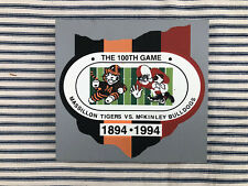New ListingCats Meow Village McKinley Massillon Game Ohio Signed Oldest Football Rivalry