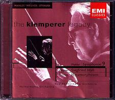 KLEMPERER: MAHLER Symphony No.9 WAGNER Siegfried Idyll STRAUSS Metamorphosen 2CD