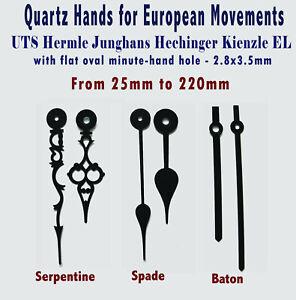 HANDS Pointers for quartz clock UTS Hermle Junghans Hechinger Kienzle, Euroshaft