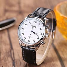 Luxus Business Herrenuhr Sportuhr Leder Klassisch Dial Retro Lässig Armbanduhr