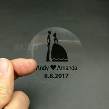 100 Customize Personalised Clear Transparent Birthday Wedding Invitation Sticker