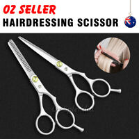 "2pcs 6"" Salon Hairdressing Scissors Hair Barber Professional Cutting Thinning"