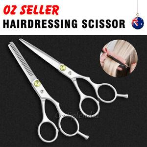 "2pcs 6"" Salon Hairdressing Scissors Hair Barber Professional Cutting Thinning"
