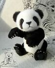 OOAK teddy bear Panda Beata 10.6 in  by artist Zhanna Glebova