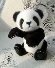 OOAK teddy bear Panda Beata 10.6 in  by artist Zhanna Glebova