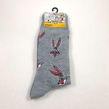 New Mens Warner Bros. Looney Tunes Bugs Bunny Crew Socks Size 6-12