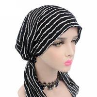 Women Head Scarf Chemo Hat Turban Pre-Tied Headwear Bandana Tichel  Cancer