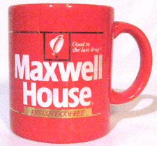 MAXWELL HOUSE RED COFFEE MUG CUP GOOD TO THE LAST DROP JAPAN