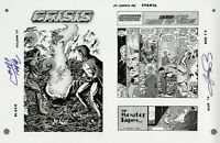 Crisis on Infinite Earths #10 Cover pg1 RARE Production Art SIGNED PEREZ WOLFMAN