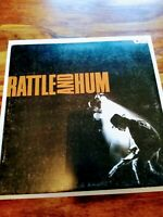 U2 Rattle And Hum Vinyl Double LP Island  1988 GATEFOLD/LYRICS UK Sonopress Etch
