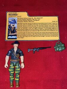 1988 GI JOE TIGER FORCE RECONDO v2 100% COMPLETE WITH FILE CARD