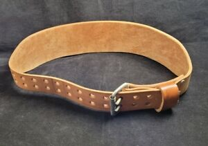 Altus Brown Leather 2-Prong Weight Lifting Belt Size Large 34 - 42