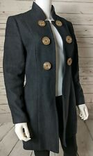 Soft Surroundings S Small Tweed Boucle Black Coat Jacket Open Front Buttons