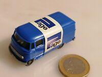 G855 WIKING MB 319 Transporter PAGE MERCEDES BENZ Werbemodell ca, 1973 wie neu