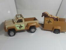 Tonka 1979 Pickup with Horse Trailer Rodeo Bucking Bronco w/ Horses