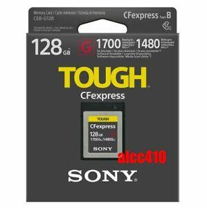 Sony 128GB CFexpress Type B Memory Card Tough CEB-G128 R1700MB/s W1480MB/s AU