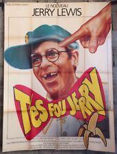 cinema-affiche originale- T'ES FOU JERRY - Jerry Lewis- 120x160 - 1983