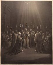 THE DESCENT OF THE SPIRIT BY GUSTAVE DORE c.1889 PRINT