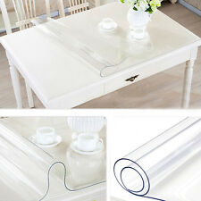 1.5mm Clean Thickness Transparent Mat  Tablecloth Table Cover Scratch Waterproof