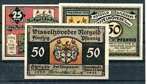 Visselhövede 3 Scheine Notgeld ...........................z1979