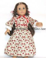 Victorian Flower Gown + Hair Bows 18 in Doll Clothes Fits American Girl