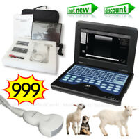 VET Ultrasound Scanner LCD Laptop Machine 3.5Mhz Convex Probe For Animal Using