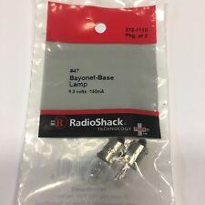 RadioShack #47 Bayonet Base Lamp 2Pk 272-1110