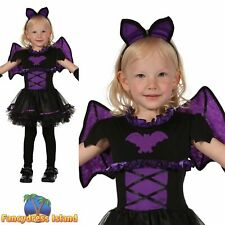 KIDS BAT PRINCESS HALLOWEEN VAMPIRE HORROR Age 2-3 Girls Fancy Dress Costume