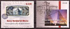 Mexico 1999 Mexican National Bank 115 Years History Architecture $10 Money Mnh