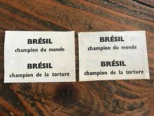 Tract Brésil champion du monde Brésil champion de la torture 1971