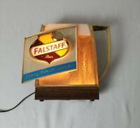 Vintage Falstaff Beer Sign - Bubbling Mug - Hanging On Wall Bar Light