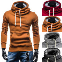 USA Men Autumn Hoodies Slim Fit Hooded Sweatshirt Outwear Sweater Coat Jacket