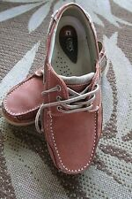 Chaps Loafer Mens 9 M Brown Leather Boat Deck Moc Toe 3 Eye Lace Up Casual Shoes