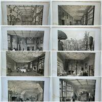 Joseph Nash (1809-1878) [The Mansions of England] - 25 Antique Prints, c1839